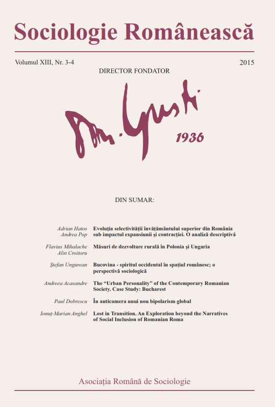 Coperta Sociologie Românească 3-4/2015