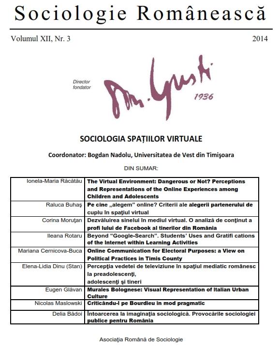 Coperta Sociologie Românească 3/2014