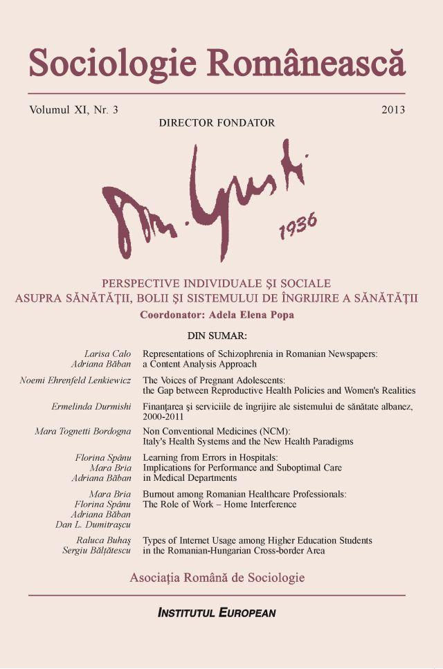 Coperta Sociologie Românească 3/2013