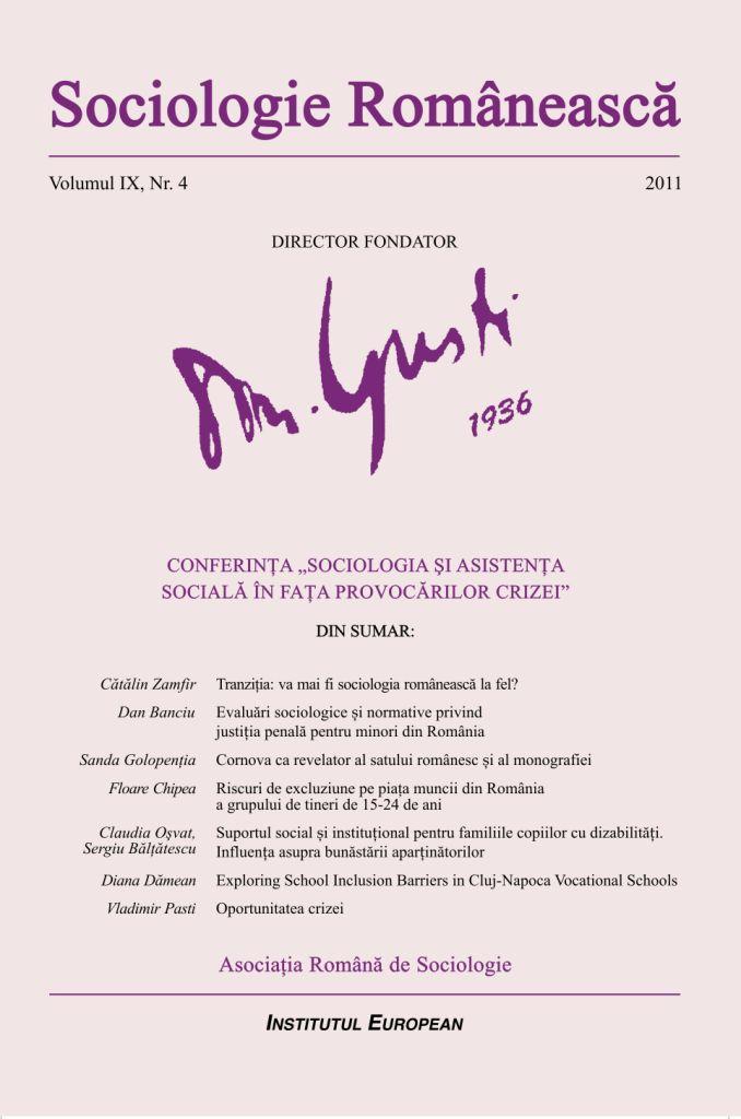 Coperta Sociologie Românească 4/2011