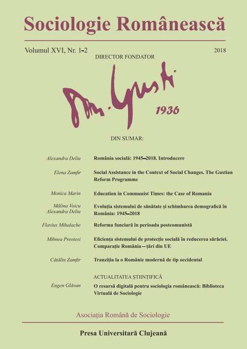 Coperta Sociologie Românească 1-2/2018
